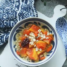 木瓜薏米红枣甜汤的做法