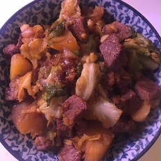 日式番薯炖肉的做法