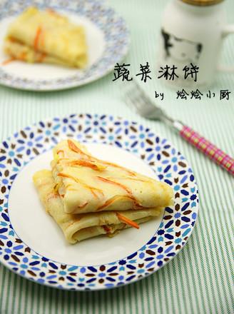 蔬菜淋饼的做法