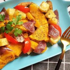 烤土豆杂蔬——土豆的N种吃法3的做法