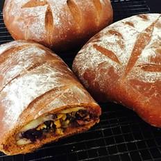 可可麻薯软欧面包
