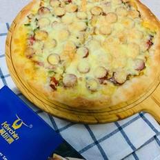 意式芝士牛肉肠彩蔬薄披萨的做法