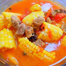 西红柿玉米牛肉汤