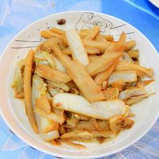 酱香白菜根炒藕条