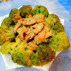 西兰花杏鲍菇