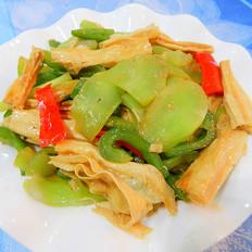 莴笋炒腐竹