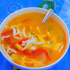 番茄蛋皮豆腐丝汤