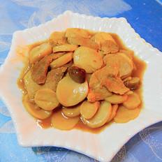 耗油杏鲍菇炒肉片