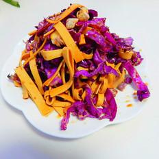 紫甘兰拌豆腐皮