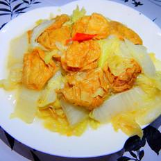 白菜炒油泡