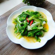 炒小白菜的做法