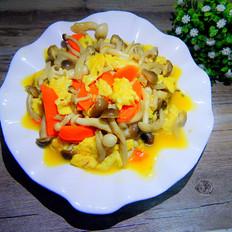 鸡蛋炒双菇
