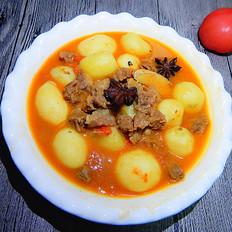 小土豆炖牛肉粒