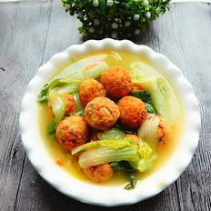 小白菜豆腐丸汤