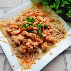 金针菇蒸鸡肉