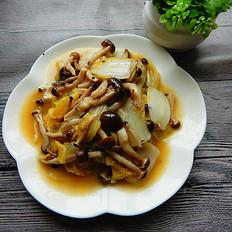 白菜炒蟹味菇