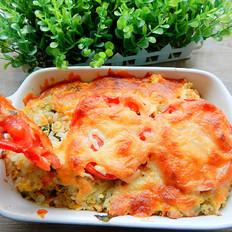 生菜西红柿焗饭