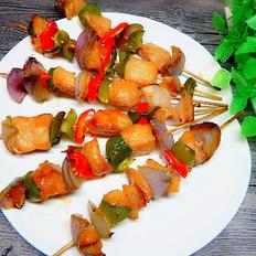 时蔬烤鱼串