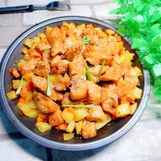 土豆烤鸡丁