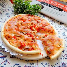 蘑菇鸡肉披萨