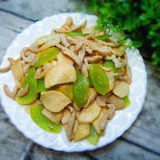杏鲍菇莴笋炒肉片