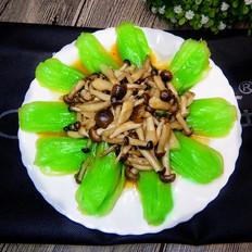 蚝油青菜蟹味菇