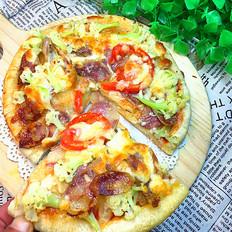 花菜香肠披萨