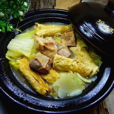 白菜豆卷炖排骨