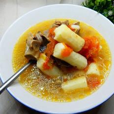 西红柿山药牛骨汤
