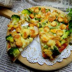香肠米饭披萨