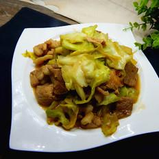 蘑菇酱包菜肉片