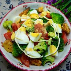鸡蛋西兰花沙拉