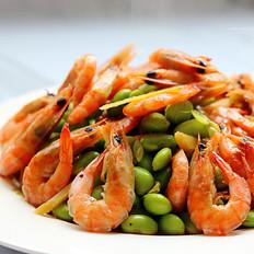 毛豆炒河虾