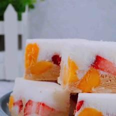 双色酸奶水果冰糕