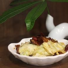 干锅腊肉手撕包菜的做法