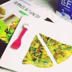 虾皮菠菜蛋饼