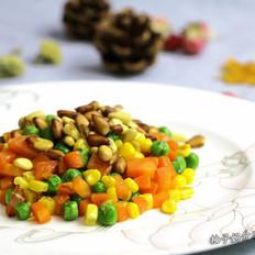 松仁豌豆玉米