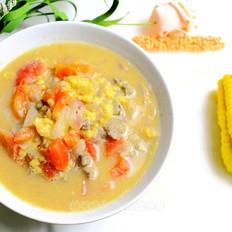 猪肝疙瘩汤