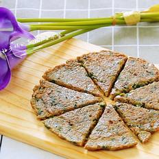 猪肝木耳菜饼
