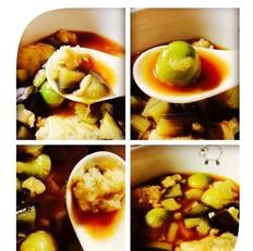 红烩茄丁滑丸汤