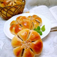 栗子泥花朵面包