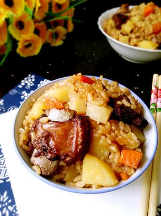 土豆排骨焖饭的做法