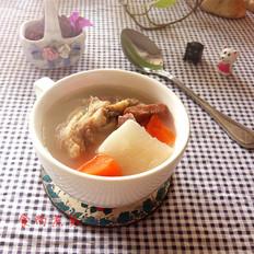 咸骨火腿萝卜汤
