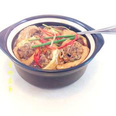 煲仔生焗酿豆腐