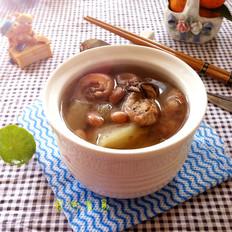 猪尾花生木瓜汤