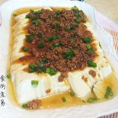 蚝油肉末蒸豆腐
