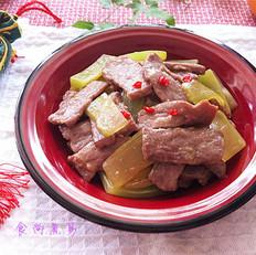 酒香牛肉炒莴苣