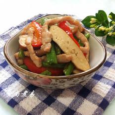 肉丝香干炒豆角