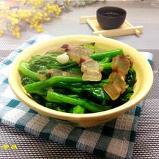 腊肉炒芥菜心