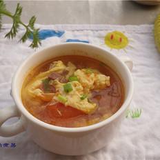 番茄鸡蛋火腿汤